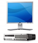 HP Compaq dc7700 slim + DELL monitor lcd 19""